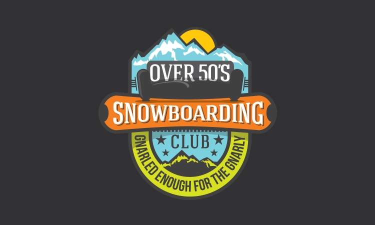 Over 50's Snowboarders logo